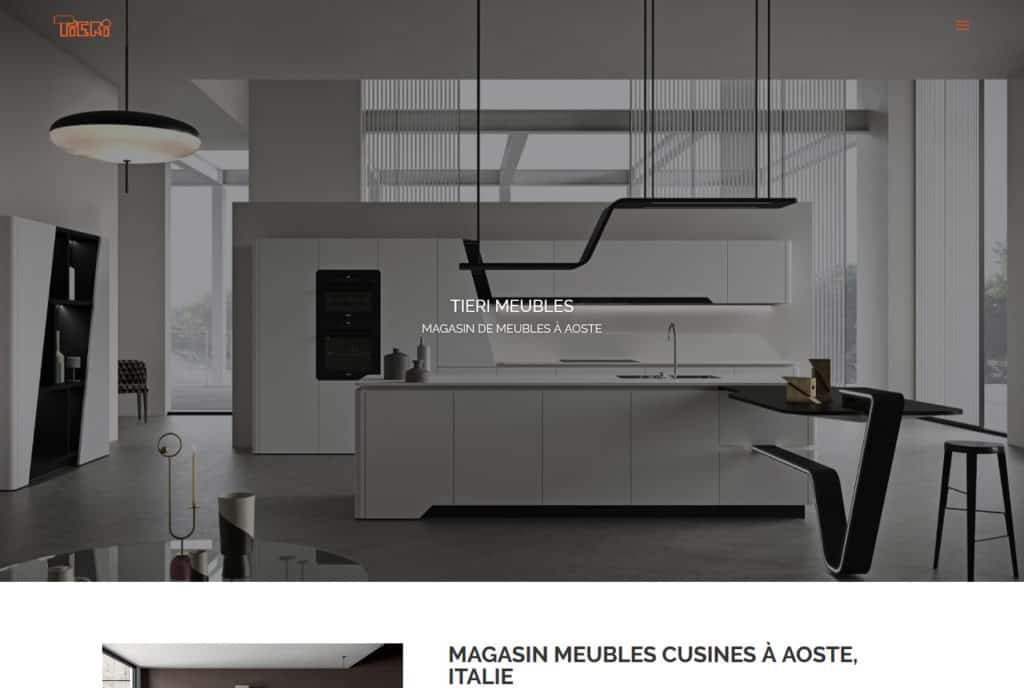 Magasin meubles cuisines Aoste